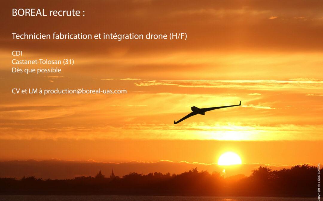 [EMPLOI] Technicien fabrication et intégration drone (H/F)